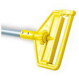 """Rubbermaid® 60"""" Invader Side Gate Vinyl-Covered Aluminum Wet-Mop Handle, Gray/Yellow - RCPH136 - Pkg Qty 12"""