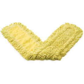 "Rubbermaid® 24"" x 5"" Trapper Commercial Looped-End Launderable Dust Mop, Yellow - RCPJ15300YEL - Pkg Qty 12"