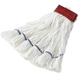 Large Rough Floor Looped-End Cotton/Synthetic Wet Mop Head, White 12/Pack - RCPT256