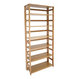 67x30 Flip Flop Bookcase - Medium Oak