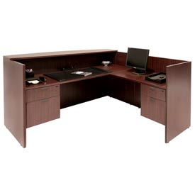Double Pedestal Reception Station - Mahogany
