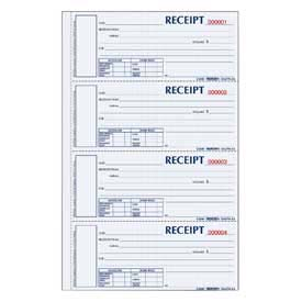 "Rediform® Money Receipt Book, 2-Part, Carbonless, 2-3/4"" x 6-7/8"", 300 Sets/Book"