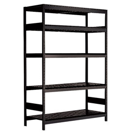 "5 Shelf High-Density Storage for Taper 50 - 60""Wx18""Dx87""H Black"