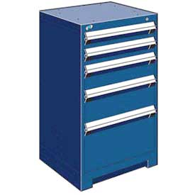 "Rousseau Metal Heavy Duty Modular Drawer Cabinet 5 Drawer Counter High 24""W - Avalanche Blue"