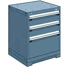"Rousseau Metal Heavy Duty Modular Drawer Cabinet 3 Drawer Bench High 24""W - Everest Blue"