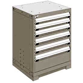 "Rousseau Metal Heavy Duty Modular Drawer Cabinet 6 Drawer Bench High 24""W - Light Gray"