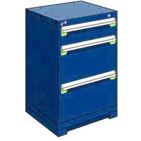 "Rousseau Metal Heavy Duty Modular Drawer Cabinet 3 Drawer Counter High 24""W - Avalanche Blue"