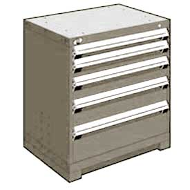 "Rousseau Metal Heavy Duty Modular Drawer Cabinet 5 Drawer Bench High 30""W - Light Gray"