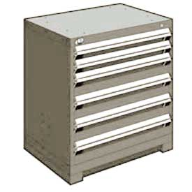 "Rousseau Metal Heavy Duty Modular Drawer Cabinet 6 Drawer Bench High 30""W - Light Gray"