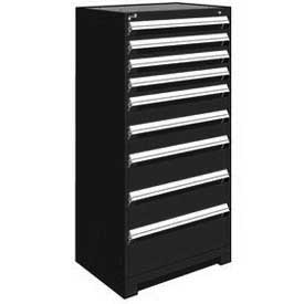 "Rousseau Metal Heavy Duty Modular Drawer Cabinet 9 Drawer Full Height 30""W - Black"