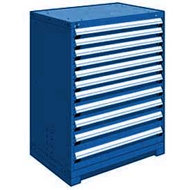 "Rousseau Metal Heavy Duty Modular Drawer Cabinet 11 Drawer Counter High 36""W - Avalanche Blue"