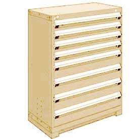 "Rousseau Metal Heavy Duty Modular Drawer Cabinet 8 Drawer Counter High 36""W - Beige"