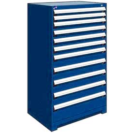 "Rousseau Metal Heavy Duty Modular Drawer Cabinet 11 Drawer Full Height 36""W - Avalanche Blue"