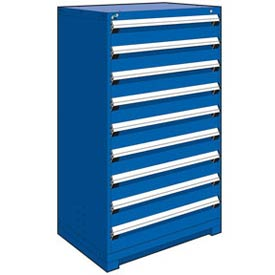 "Rousseau Metal Heavy Duty Modular Drawer Cabinet 9 Drawer Full Height 36""W - Avalanche Blue"