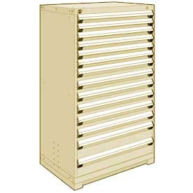 "Rousseau Metal Heavy Duty Modular Drawer Cabinet 14 Drawer Full Height 36""W - Beige"
