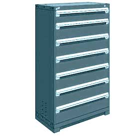 "Rousseau Metal Heavy Duty Modular Drawer Cabinet 7 Drawer Full Height 36""W - Everest Blue"