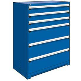 "Rousseau Metal Heavy Duty Modular Drawer Cabinet 6 Drawer Full Height 48""W - Avalanche Blue"