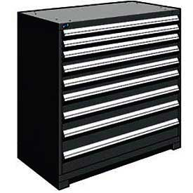 "Rousseau Metal Heavy Duty Modular Drawer Cabinet 9 Drawer Counter High 48""W - Black"