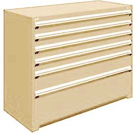 "Rousseau Metal Heavy Duty Modular Drawer Cabinet 6 Drawer Counter High 60""W - Beige"