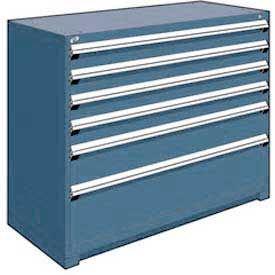 "Rousseau Metal Heavy Duty Modular Drawer Cabinet 6 Drawer Counter High 60""W - Everest Blue"