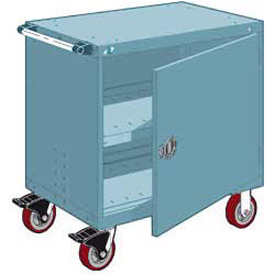 "Rousseau Metal Heavy-Duty Mobile Modular Drawer Cabinet - 30""Wx21""Dx37-1/2""H Everest Blue"