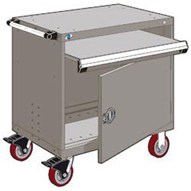 "Rousseau Metal Heavy-Duty Mobile Modular Drawer Cabinet - 36""Wx24""Dx37-1/2""H Light Gray"