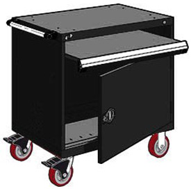 "Rousseau Metal Heavy-Duty Mobile Modular Drawer Cabinet - 36""Wx24""Dx37-1/2""H Black"