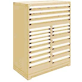 "Rousseau Metal 20 Drawer Full Height 48""W Multi-Drawer Cabinet - Beige"