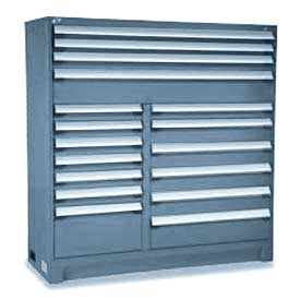 """Rousseau Metal 18 Drawer Full Height 60""""W Multi-Drawer Cabinet - Everest Blue"""