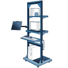 "Computer Multi-purpose Stand - 32""Wx27""Dx85""H Avalanche Blue"