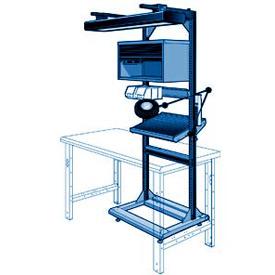 """Electronic Multi-purpose Stand - 32""""Wx27""""Dx85""""H Avalanche Blue"""