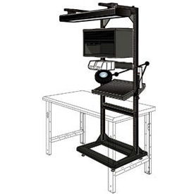 "Electronic Multi-purpose Stand - 32""Wx27""Dx85""H Black"