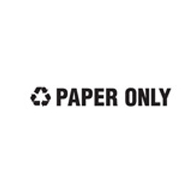 "Recycling Decals ""Paper Only"" - White 1""H X 8""W Pkg Qty 10 - Pkg Qty 10"