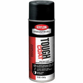 Krylon Industrial Tough Coat High-Heat Paint Black - S00332 - Pkg Qty 12