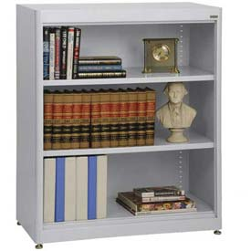 "Radius Edge Bookcase - Gray, 36""W x 18""D x 42""H"