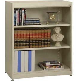 "Radius Edge Bookcase - Putty, 36""W x 18""D x 42""H"