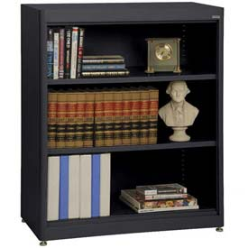 "Radius Edge Bookcase - Black, 36""W x 18""D x 42""H"