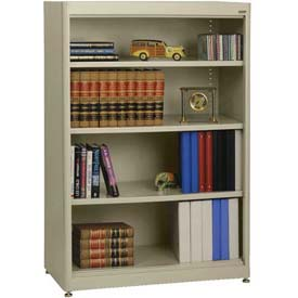 "Radius Edge Bookcase - Putty, 36""W x 18""D x 52""H"