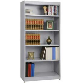 "Radius Edge Bookcase - Gray, 36""W x 18""D x 72""H"