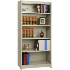 "Radius Edge Bookcase - Putty, 36""W x 18""D x 72""H"