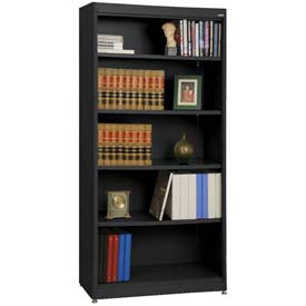 "Radius Edge Bookcase - Black, 36""W x 18""D x 72""H"