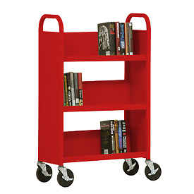 Sandusky® SL327 3-Shelf Single Sided Mobile Utility Truck 27x13 - Red