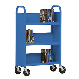 Sandusky® SL327 3-Shelf Single Sided Mobile Utility Truck 27x13 - Blue