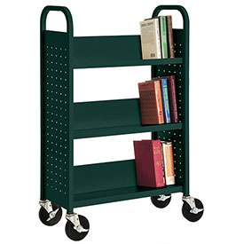 Sandusky® SL327 3-Shelf Single Sided Mobile Utility Truck 27x13 Green