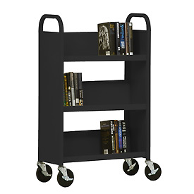 Sandusky® SL327 3-Shelf Single Sided Mobile Utility Truck 27x13 - Black