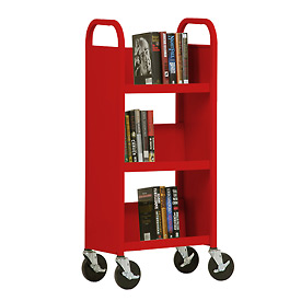 Sandusky® SL33017 3-Shelf Single Sided Mobile Utility Truck 17x13 - Red