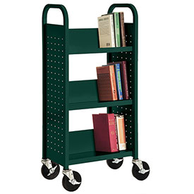 Sandusky® SL33017 3-Shelf Single Sided Mobile Utility Truck 17x13 - Green