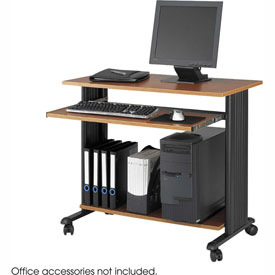"Safco® 1921CY Muv™ 35"" Fixed Height Workstation - Cherry"