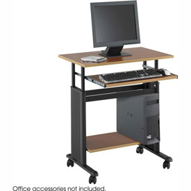 "Safco® 1925CY Muv™ 28"" Adjustable Height Workstation - Cherry"
