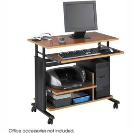 Muv™ Mini Tower Adjustable Height Workstation - Cherry